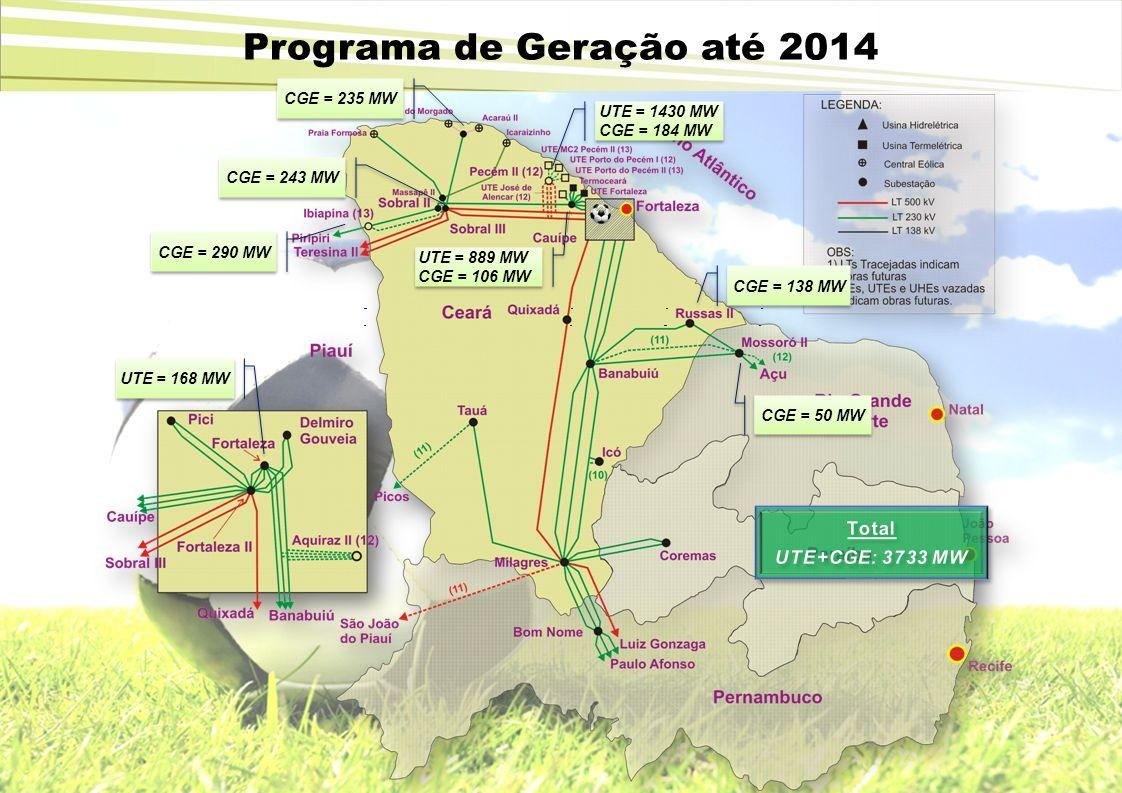 CGE = 290 MW CGE = 235 MW CGE = 243 MW CGE = 138 MW UTE = 1430 MW CGE = 184 MW UTE = 1430 MW CGE = 184 MW UTE = 889 MW CGE = 106 MW UTE = 889 MW CGE =