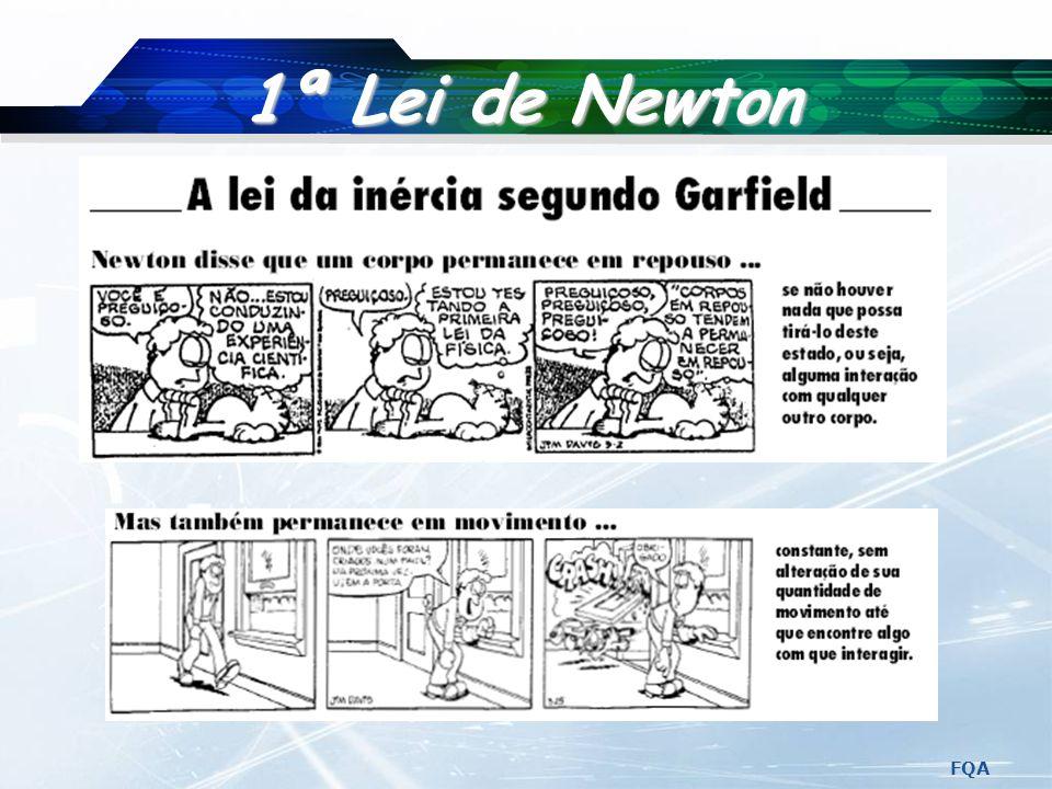 FQA 2.ª Lei de Newton F a m Fa m m F a m m m Fa Fa Fa M M M