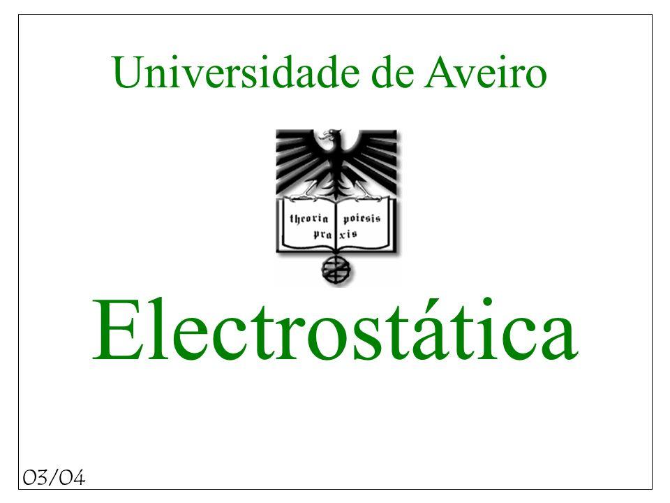 Electrostática 03/04 Universidade de Aveiro