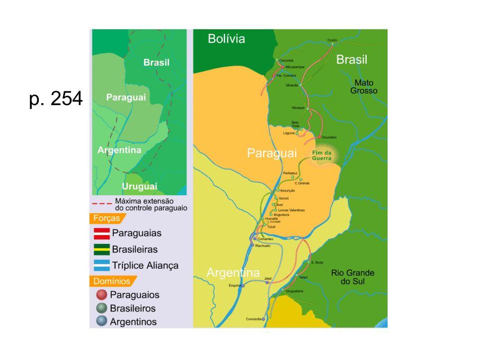 A reação Brasil, Argentina e Uruguai formaram a tríplice aliança em 1º de maio de 1865 e contra- atacaram.