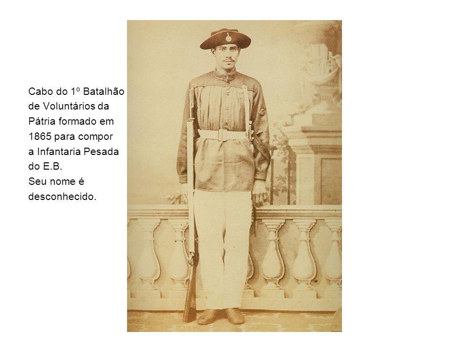 Cabo do 1º Batalhão de Voluntários da Pátria formado em 1865 para compor a Infantaria Pesada do E.B.