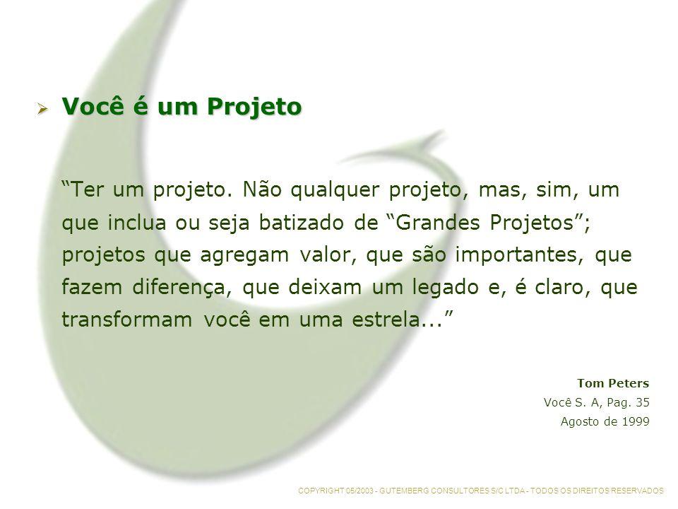 Você é um Projeto Você é um Projeto Ter um projeto.