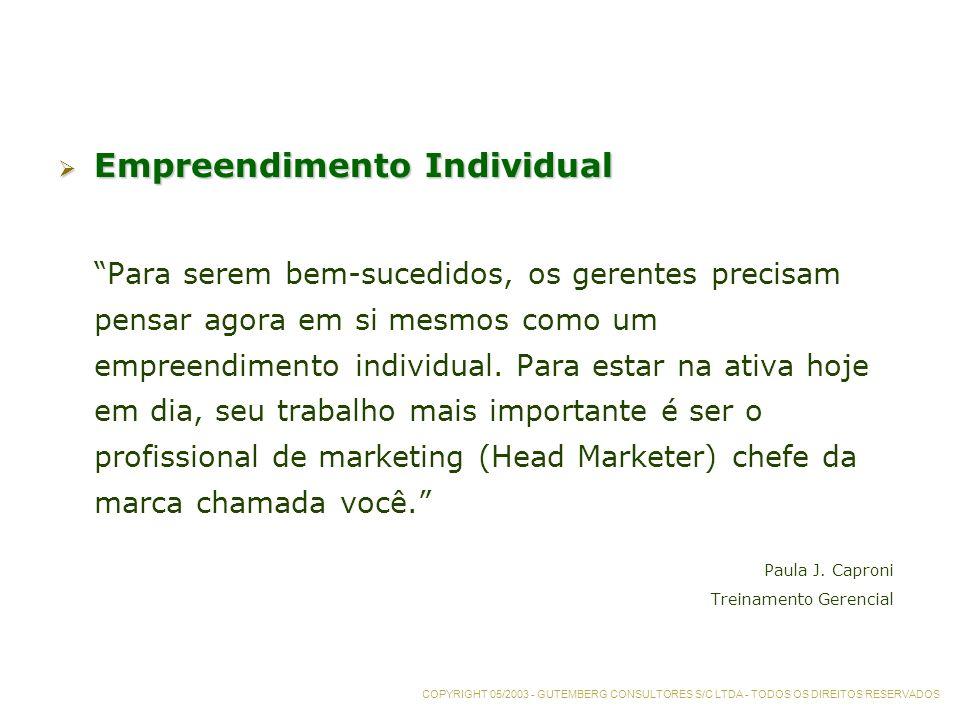 Empreendimento Individual Empreendimento Individual Para serem bem-sucedidos, os gerentes precisam pensar agora em si mesmos como um empreendimento individual.