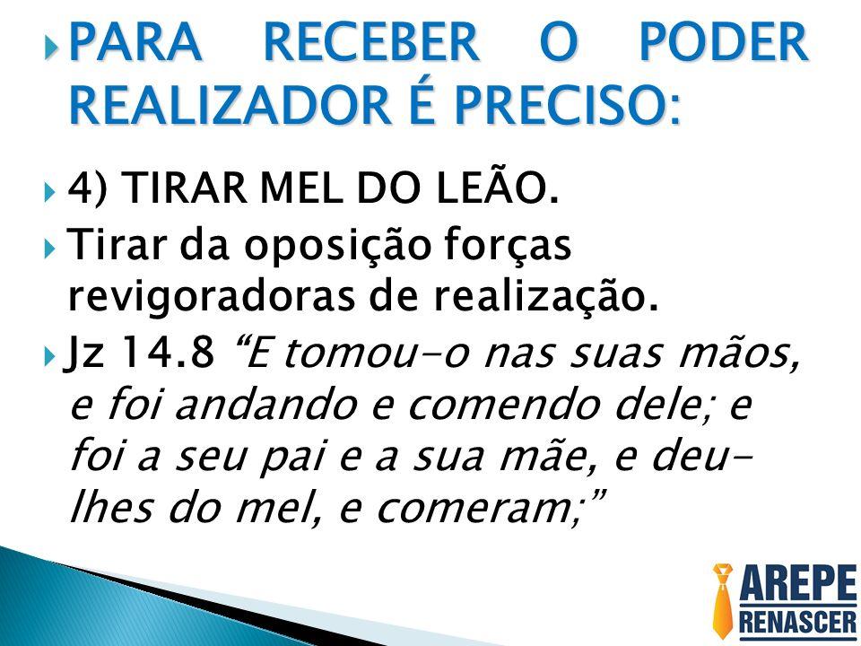 PARA RECEBER O PODER REALIZADOR É PRECISO: PARA RECEBER O PODER REALIZADOR É PRECISO: 5) ASSUMIR A FERTILIDADE DA RESSURREIÇÃO.