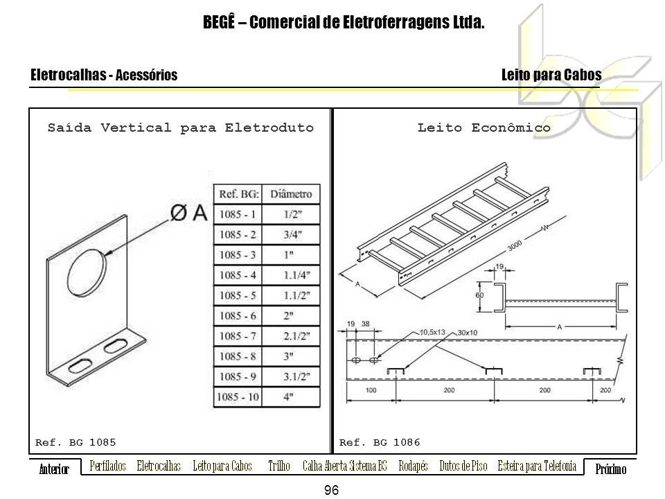 Saída Vertical para Eletroduto BEGÊ – Comercial de Eletroferragens Ltda.