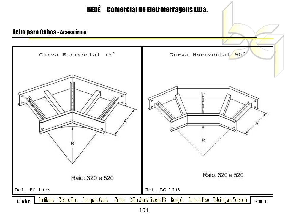 Curva Horizontal 75º BEGÊ – Comercial de Eletroferragens Ltda.