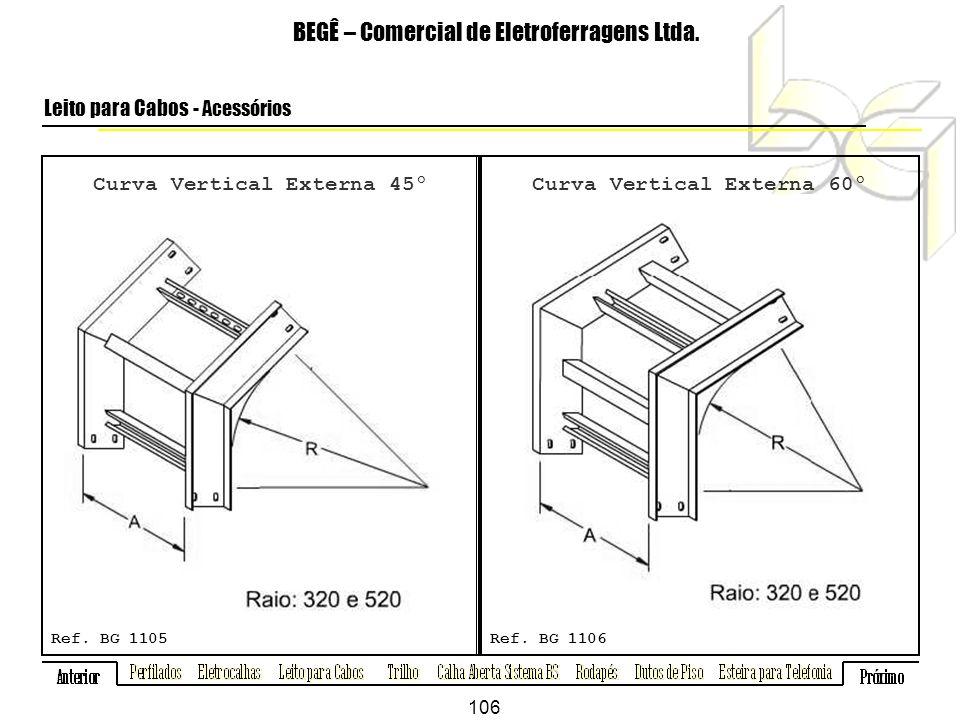 Curva Vertical Externa 45º BEGÊ – Comercial de Eletroferragens Ltda.