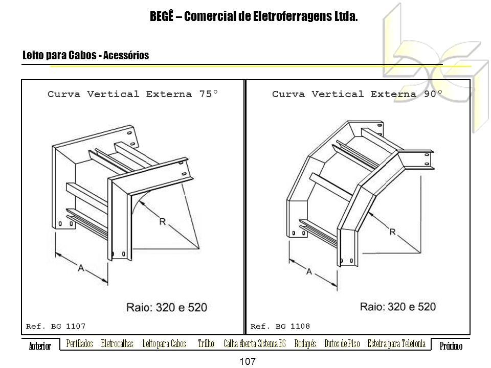 Curva Vertical Externa 75º BEGÊ – Comercial de Eletroferragens Ltda.