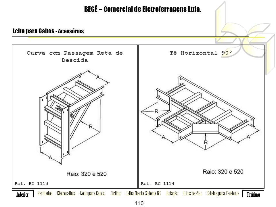 Curva com Passagem Reta de Descida BEGÊ – Comercial de Eletroferragens Ltda.