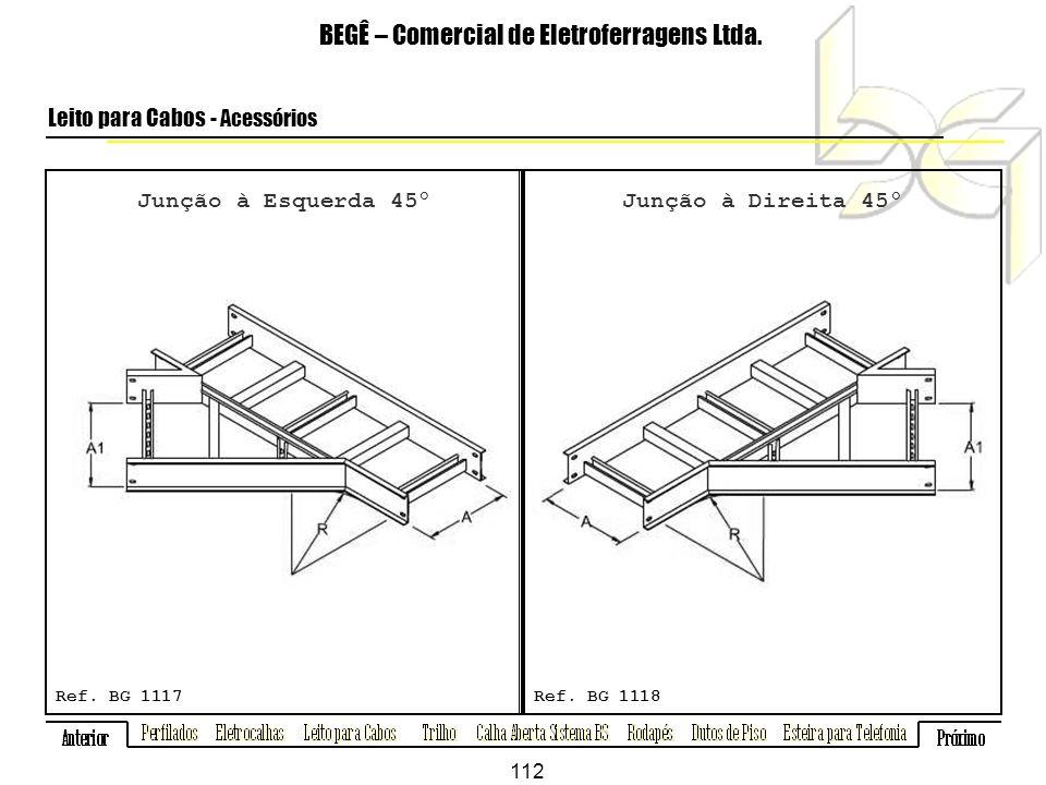 Junção à Esquerda 45º BEGÊ – Comercial de Eletroferragens Ltda.