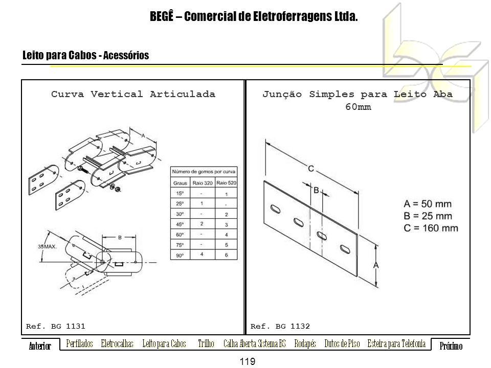 Curva Vertical Articulada BEGÊ – Comercial de Eletroferragens Ltda.