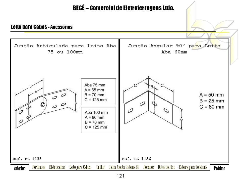 Junção Articulada para Leito Aba 75 ou 100mm BEGÊ – Comercial de Eletroferragens Ltda.
