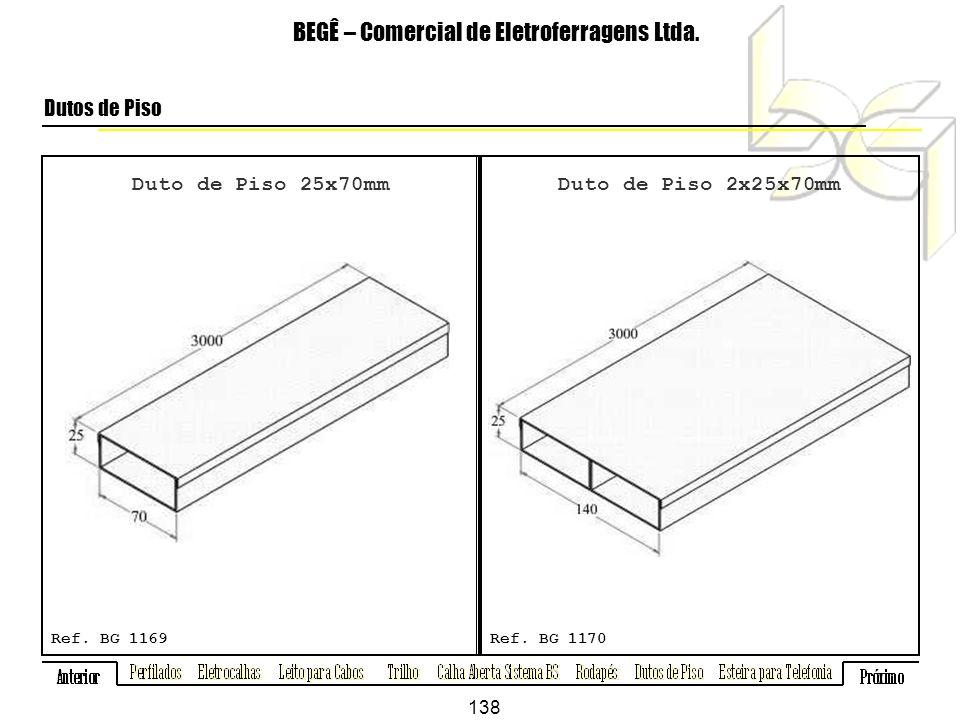 Duto de Piso 25x70mm BEGÊ – Comercial de Eletroferragens Ltda.