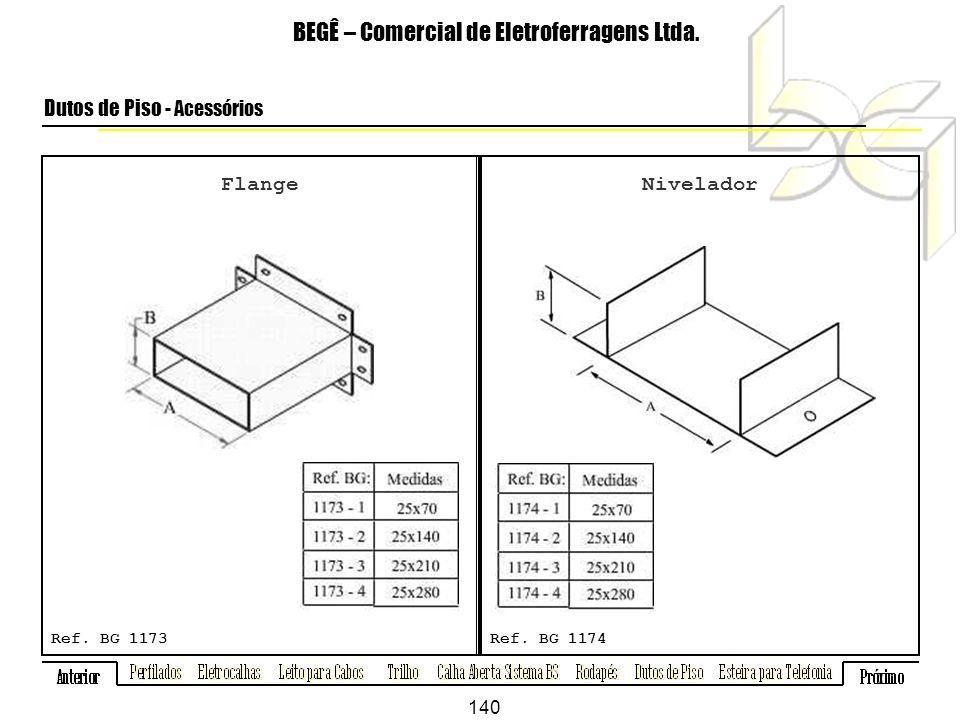 Flange BEGÊ – Comercial de Eletroferragens Ltda.Dutos de Piso - Acessórios Ref.