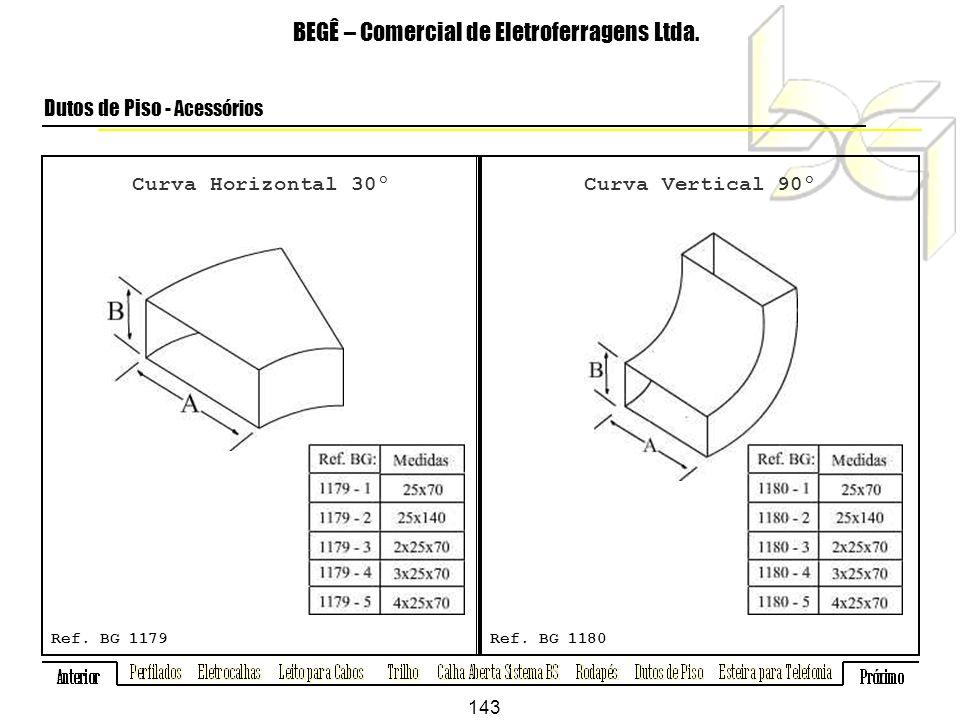Curva Horizontal 30º BEGÊ – Comercial de Eletroferragens Ltda.