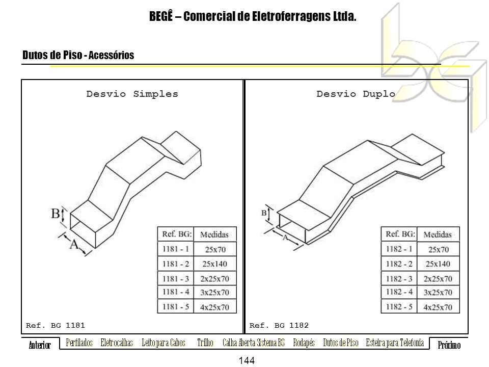 Desvio Simples BEGÊ – Comercial de Eletroferragens Ltda.