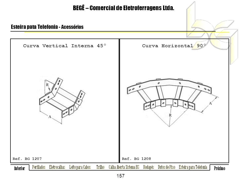 BEGÊ – Comercial de Eletroferragens Ltda.Esteira pata Telefonia - Acessórios Ref.
