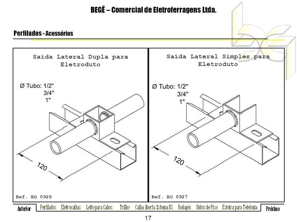 Saída Lateral Dupla para Eletroduto BEGÊ – Comercial de Eletroferragens Ltda.
