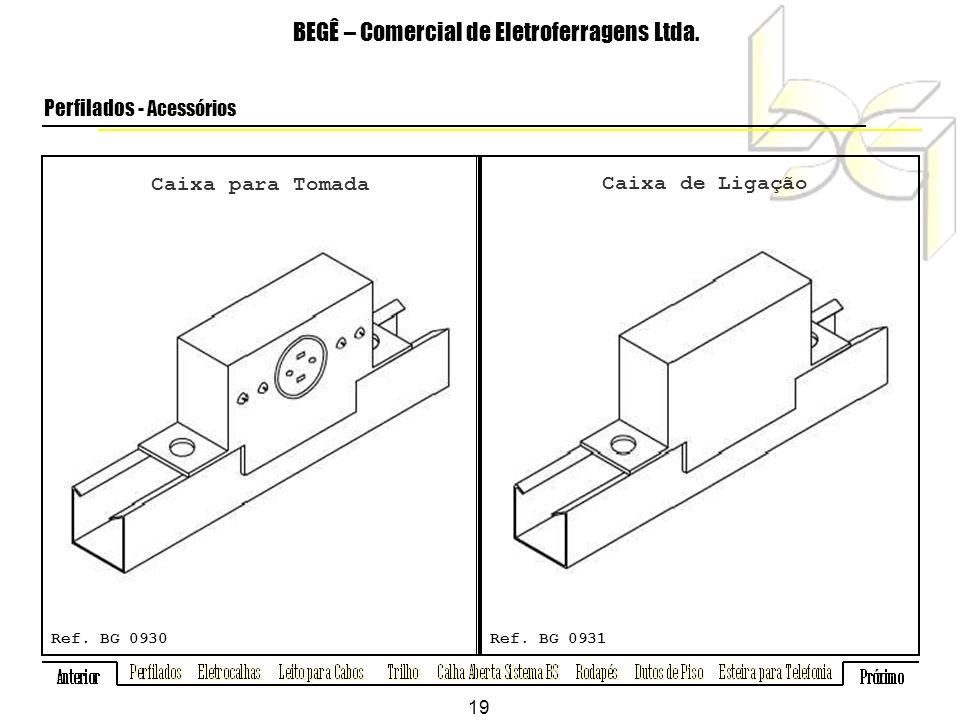 Caixa para Tomada BEGÊ – Comercial de Eletroferragens Ltda.