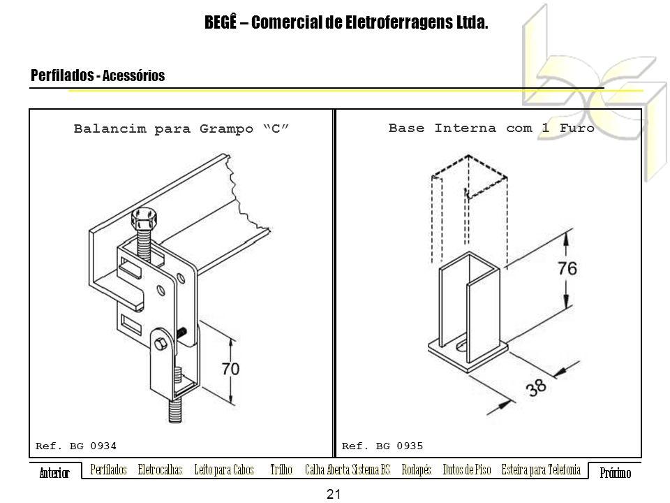 Balancim para Grampo C BEGÊ – Comercial de Eletroferragens Ltda.