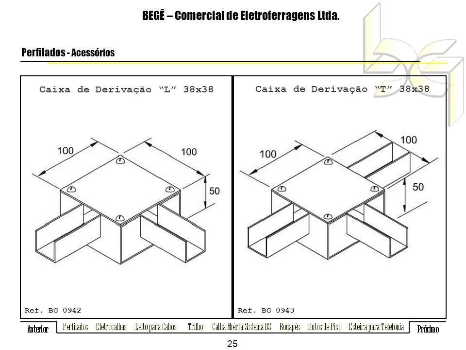 Caixa de Derivação L 38x38 BEGÊ – Comercial de Eletroferragens Ltda.