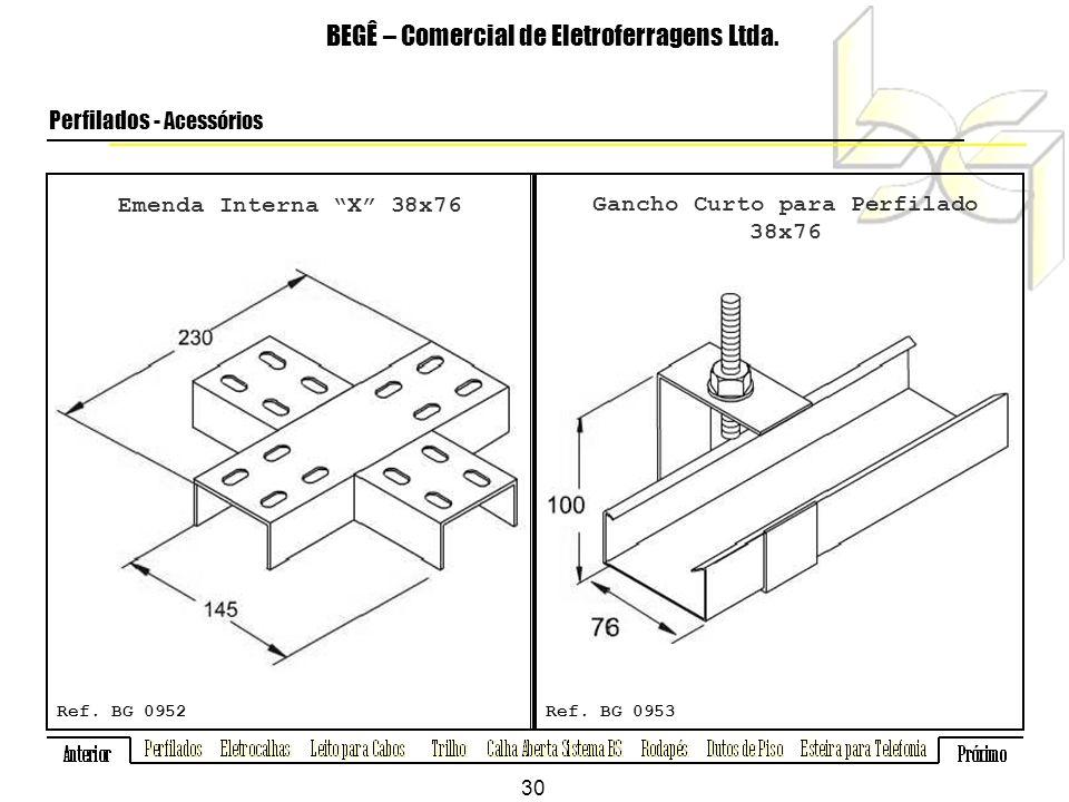 Emenda Interna X 38x76 BEGÊ – Comercial de Eletroferragens Ltda.