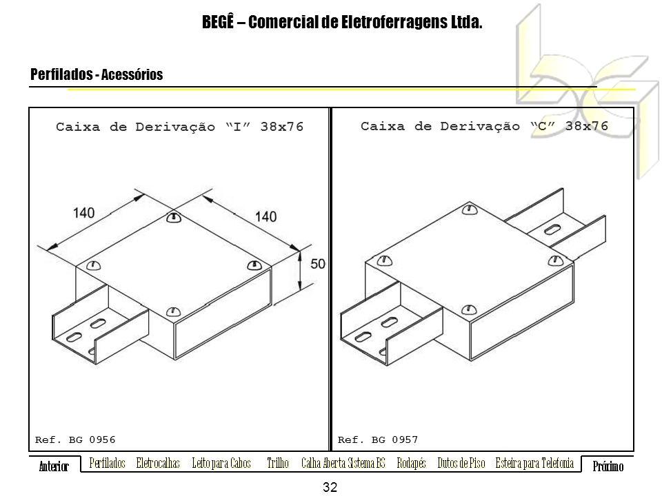 Caixa de Derivação I 38x76 BEGÊ – Comercial de Eletroferragens Ltda.