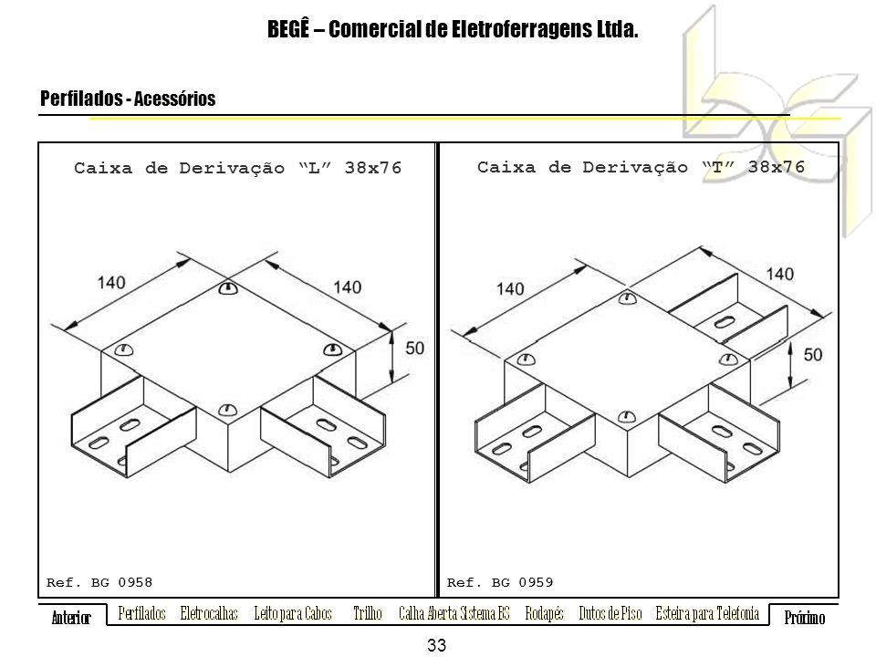 Caixa de Derivação L 38x76 BEGÊ – Comercial de Eletroferragens Ltda.