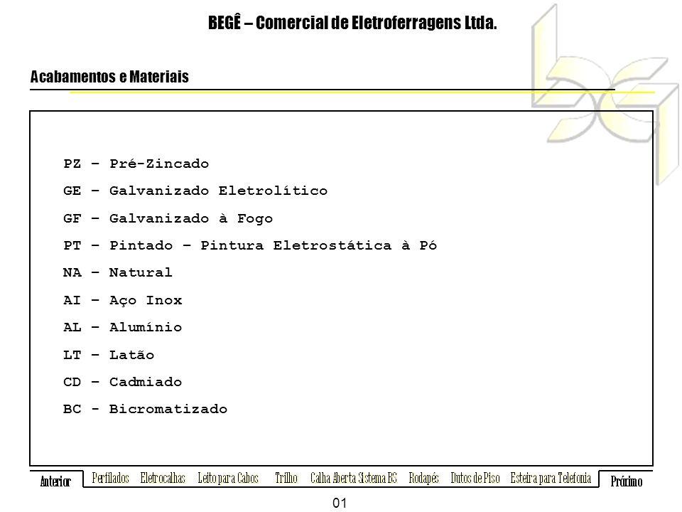 Cantoneira ZZ BEGÊ – Comercial de Eletroferragens Ltda.