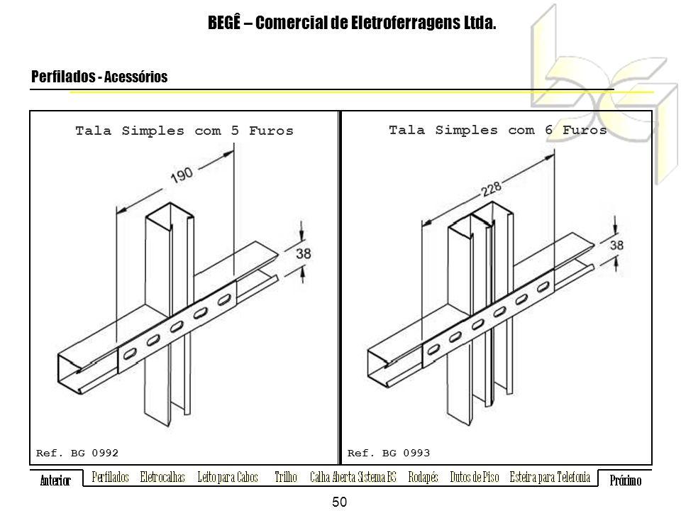 Tala Simples com 5 Furos BEGÊ – Comercial de Eletroferragens Ltda.