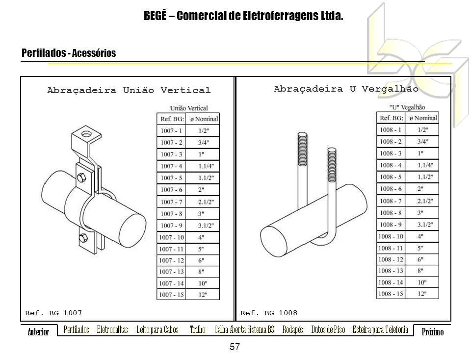 Abraçadeira União Vertical BEGÊ – Comercial de Eletroferragens Ltda.