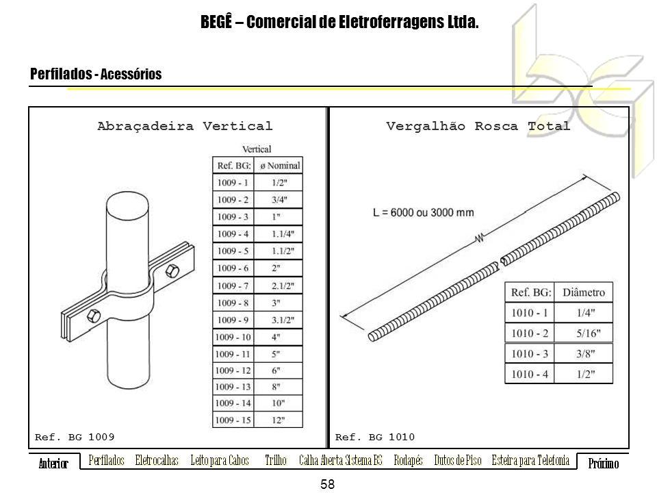 Abraçadeira Vertical BEGÊ – Comercial de Eletroferragens Ltda.