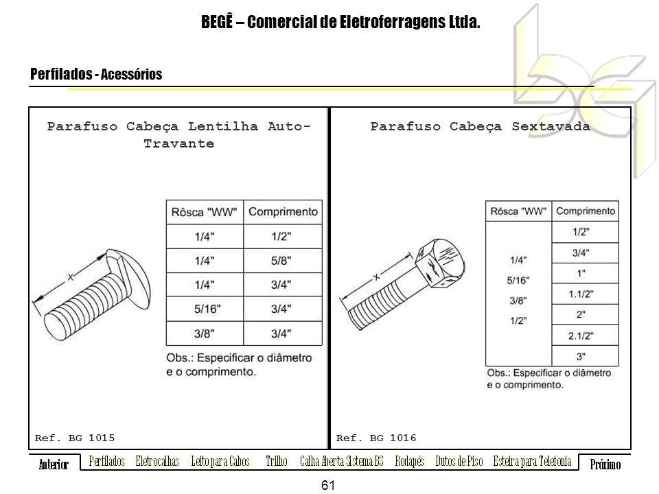 Parafuso Cabeça Lentilha Auto- Travante BEGÊ – Comercial de Eletroferragens Ltda.