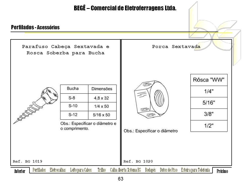 Parafuso Cabeça Sextavada e Rosca Soberba para Bucha BEGÊ – Comercial de Eletroferragens Ltda.