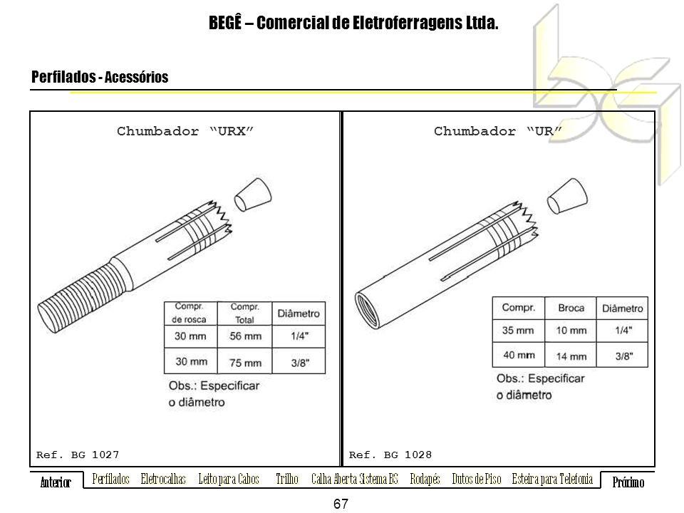 Chumbador URX BEGÊ – Comercial de Eletroferragens Ltda.