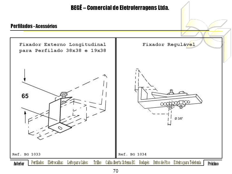 Fixador Externo Longitudinal para Perfilado 38x38 e 19x38 BEGÊ – Comercial de Eletroferragens Ltda.