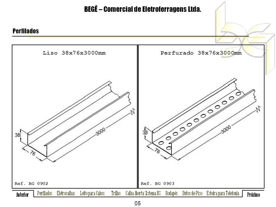 Liso 38x76x3000mm BEGÊ – Comercial de Eletroferragens Ltda.