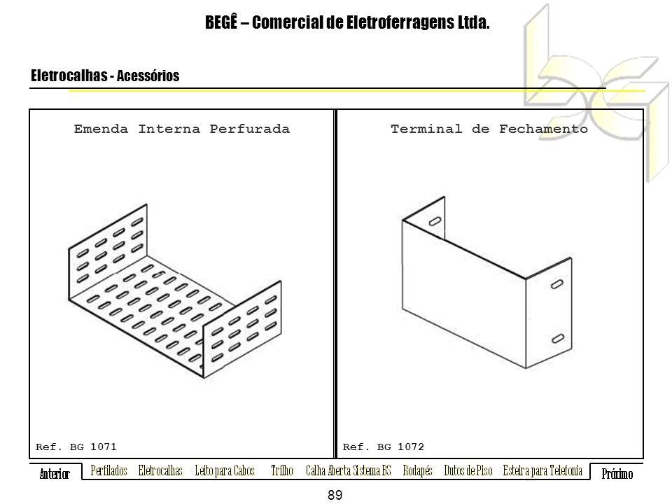Emenda Interna Perfurada BEGÊ – Comercial de Eletroferragens Ltda.