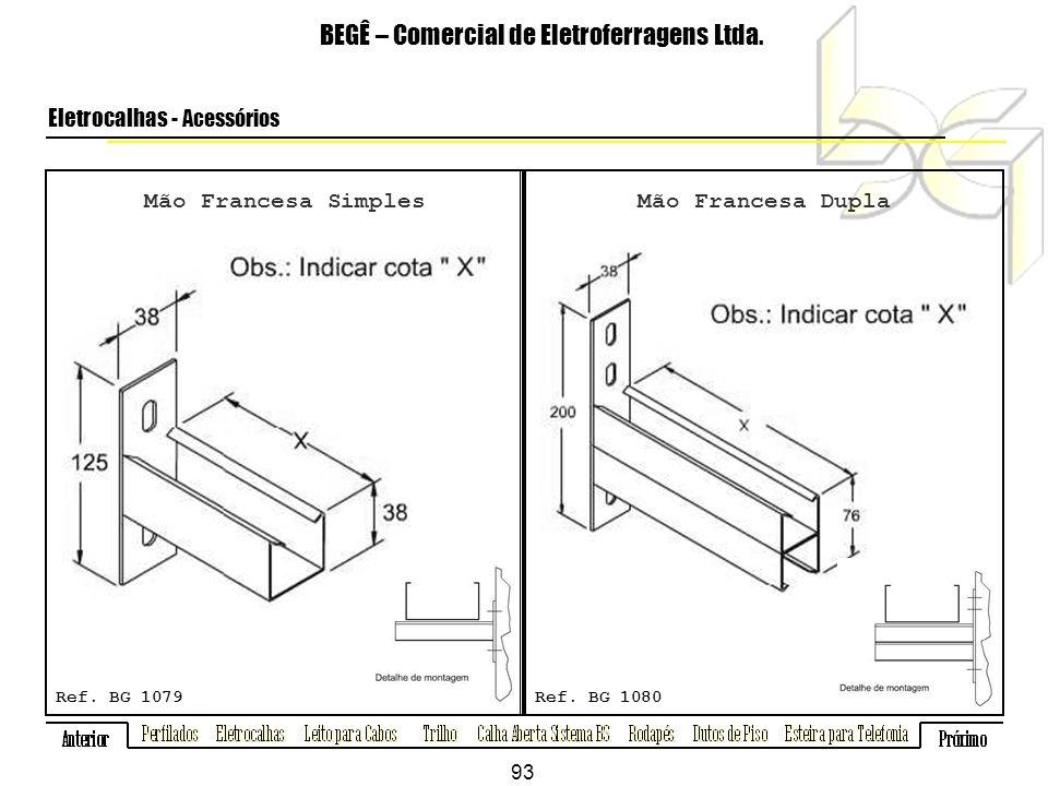 Mão Francesa Simples BEGÊ – Comercial de Eletroferragens Ltda.