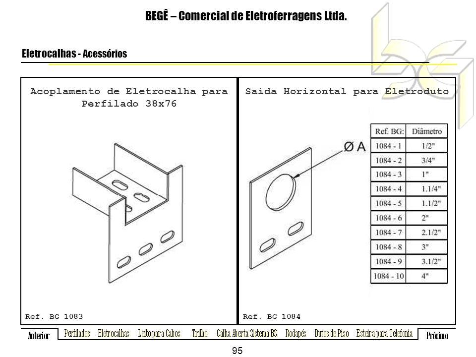 Acoplamento de Eletrocalha para Perfilado 38x76 BEGÊ – Comercial de Eletroferragens Ltda.