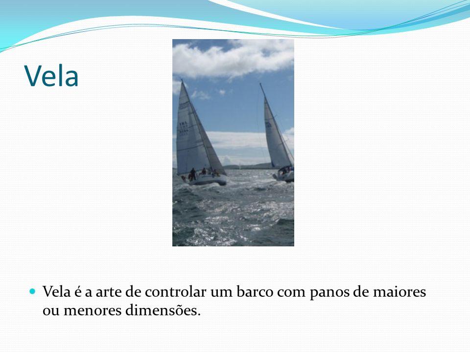 Vela Vela é a arte de controlar um barco com panos de maiores ou menores dimensões.