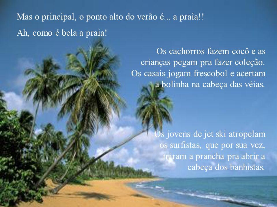 Mas o principal, o ponto alto do verão é...a praia!.