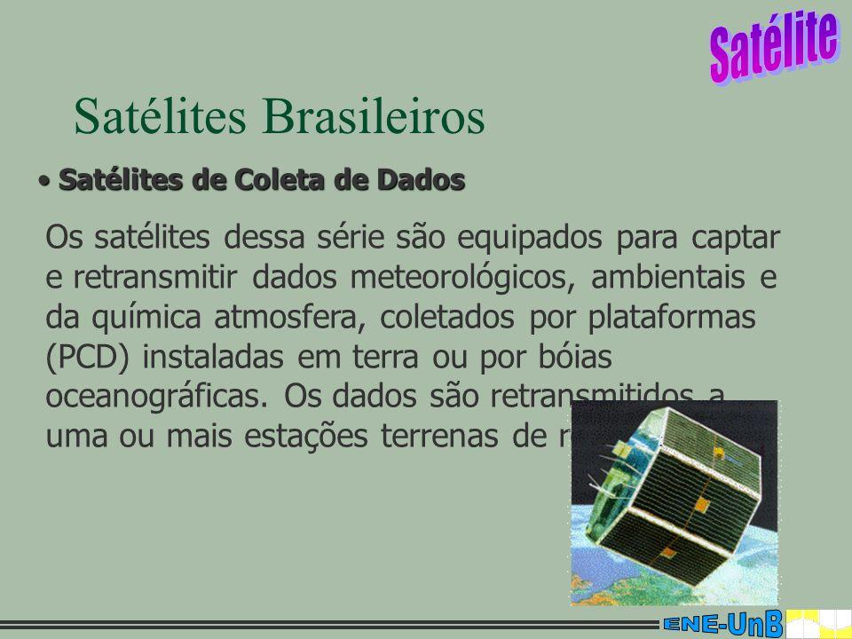 14 Satélites Brasileiros Satélites de Coleta de Dados Satélites de Coleta de Dados Os satélites dessa série são equipados para captar e retransmitir d