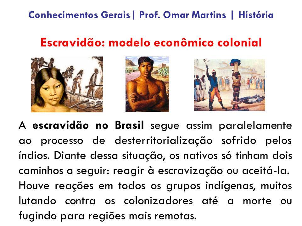 Fase do Período Colonial (1532 – 1822) Conhecimentos Gerais  Prof. Omar Martins   História