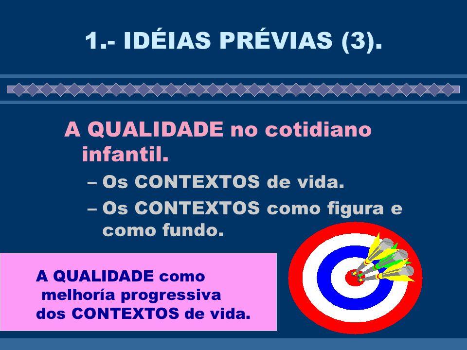 1.- IDÉIAS PRÉVIAS (3).A QUALIDADE no cotidiano infantil.