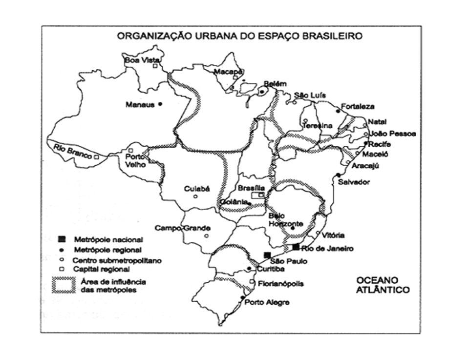 METRÓPOLES NO BRASIL - IBGE SÃO PAULO RIO DE JANEIRO BELO HORIZONTE CURITIBA PORTO ALEGRE SALVADOR RECIFE FORTALEZA BELÉM MANAUS BRASÍLIA GOIÂNIA