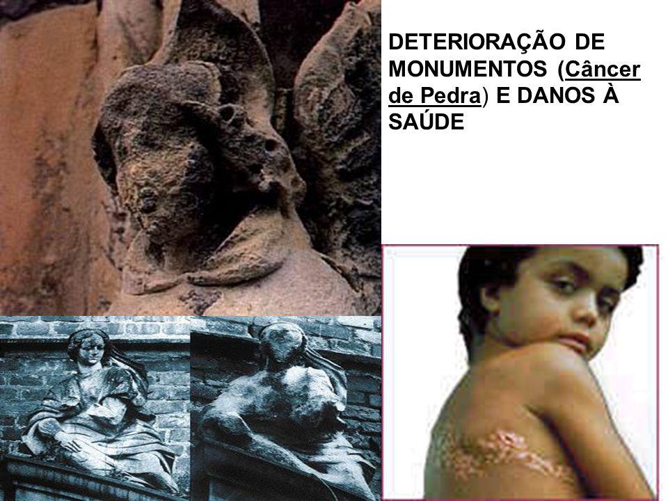 DETERIORAÇÃO DE MONUMENTOS (Câncer de Pedra) E DANOS À SAÚDE