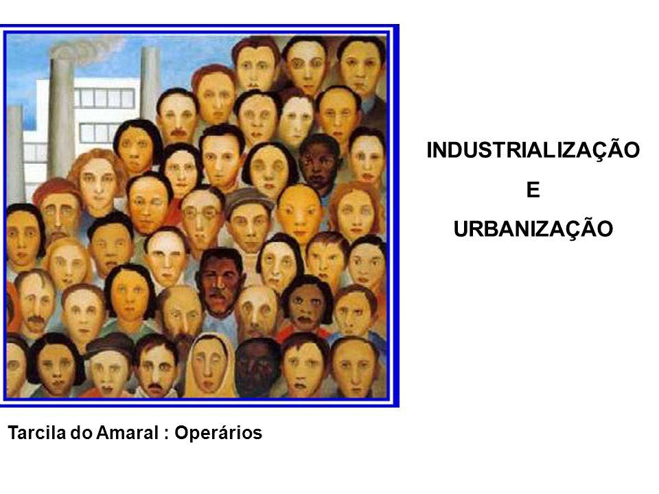 Tarcila do Amaral : Operários INDUSTRIALIZAÇÃO E URBANIZAÇÃO