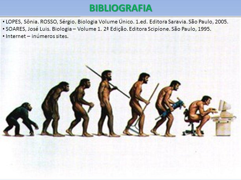 BIBLIOGRAFIA LOPES, Sônia.ROSSO, Sérgio. Biologia Volume Único.