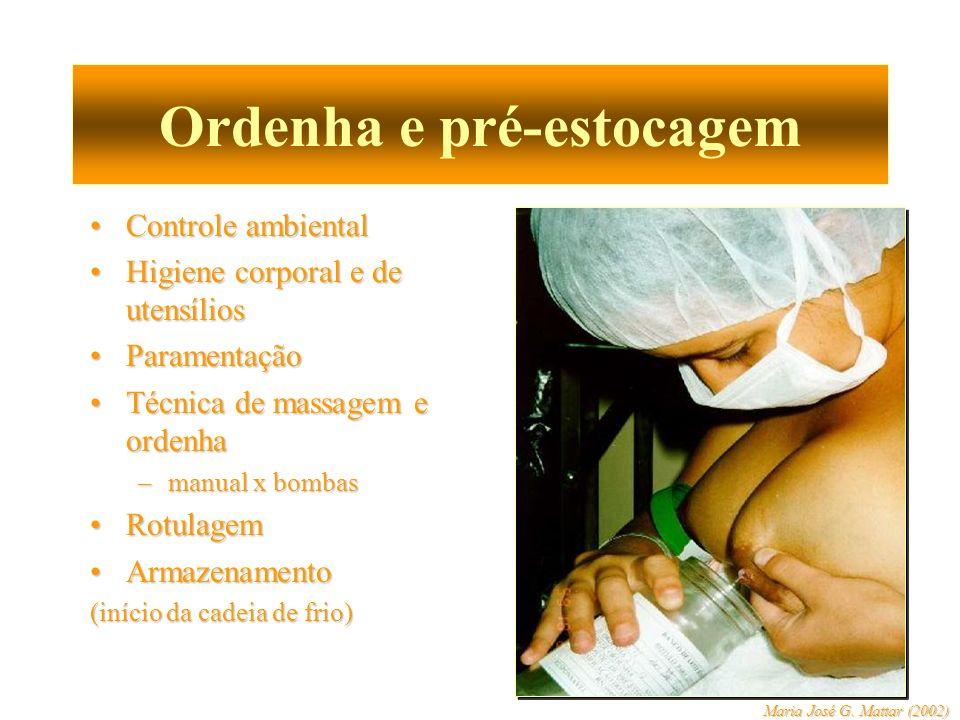 Ordenha e pré-estocagem Controle ambientalControle ambiental Higiene corporal e de utensíliosHigiene corporal e de utensílios ParamentaçãoParamentação